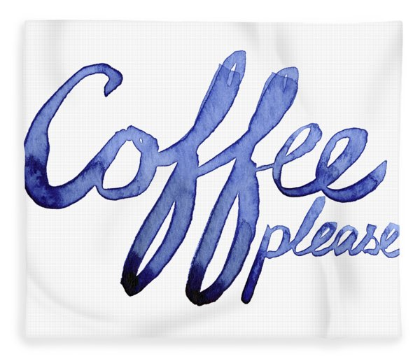 Coffee Please Fleece Blanket