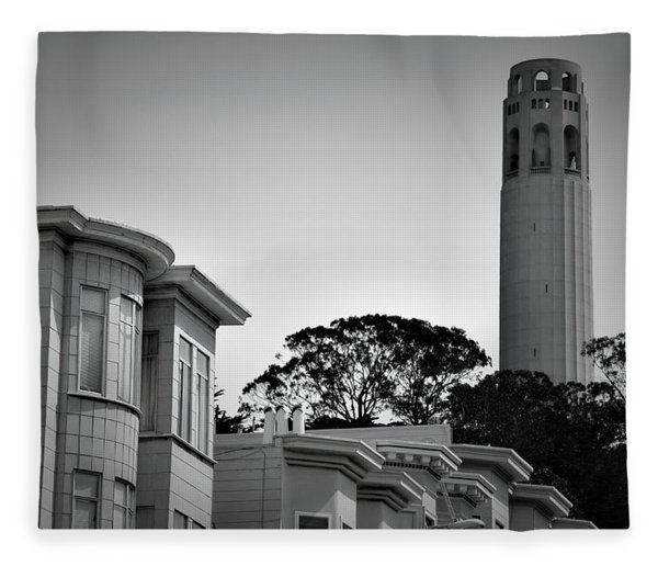 Coit Tower Fleece Blanket