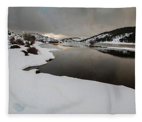 Frozen River Fleece Blanket