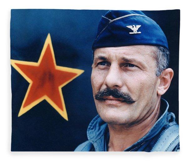 Colonel Robin Olds  Fleece Blanket