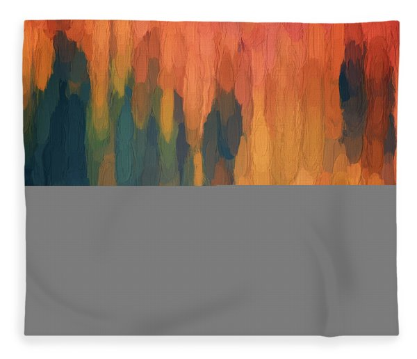 Color Abstraction L Sq Fleece Blanket