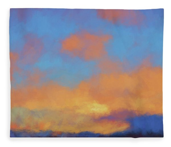 Color Abstraction Lvii Fleece Blanket