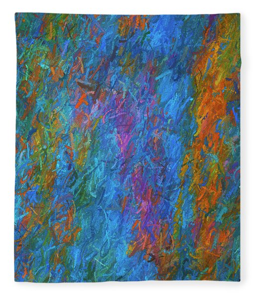 Color Abstraction Xiv Fleece Blanket