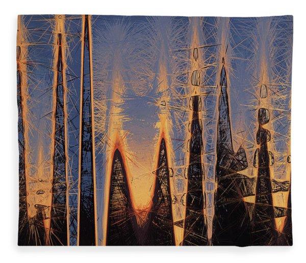 Color Abstraction Xl Fleece Blanket