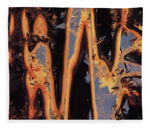 Color Abstraction Xli Fleece Blanket