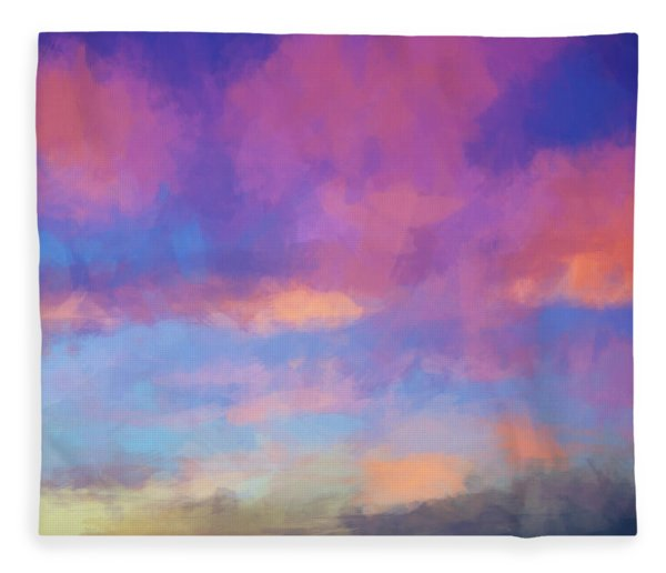 Color Abstraction Xlviii - Sunset Fleece Blanket