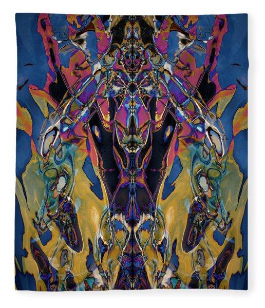 Color Abstraction Xxi Fleece Blanket