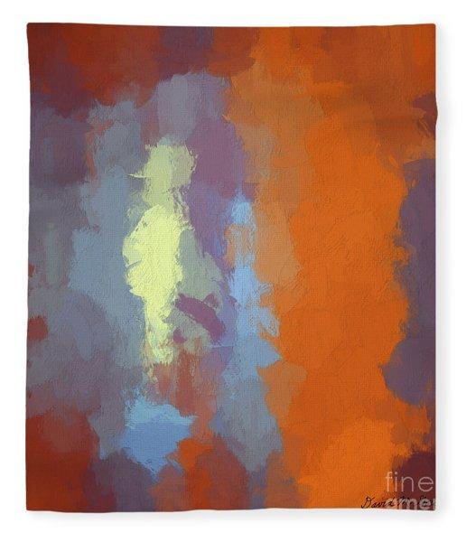 Color Abstraction Xxiii Sq Fleece Blanket