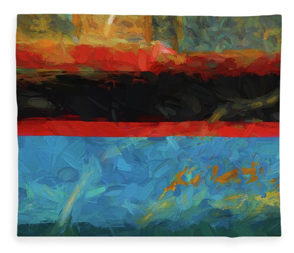 Color Abstraction Xxxix Fleece Blanket