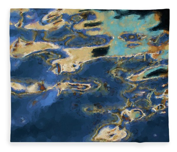 Color Abstraction Xxxvii - Painterly Fleece Blanket