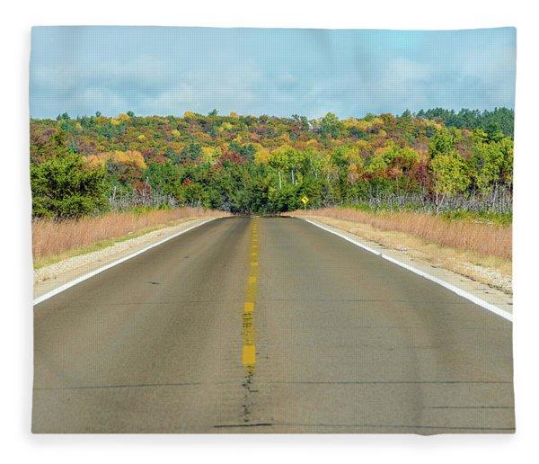 Color At Roads End Fleece Blanket