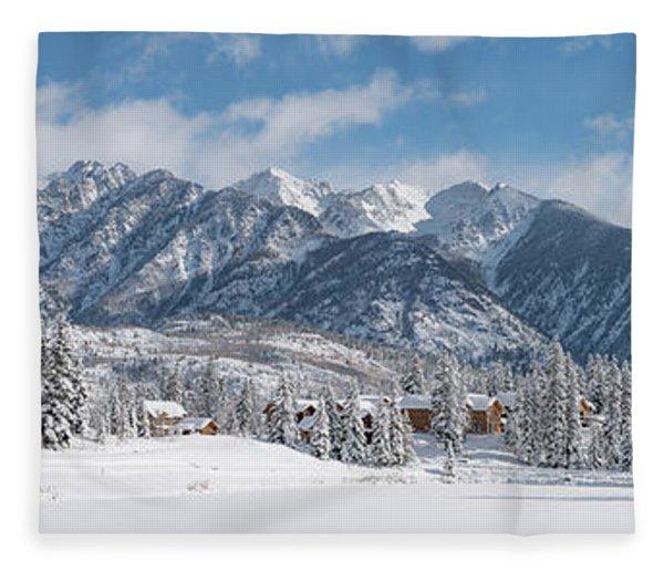 Colorad Winter Wonderland Fleece Blanket
