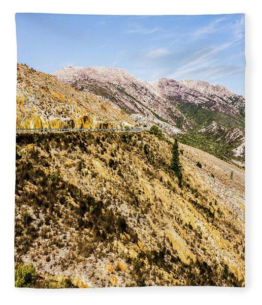 Colourful Stony Highlands Fleece Blanket