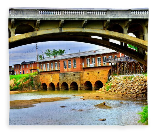 Columbia Canal At Gervais Street Bridge Fleece Blanket