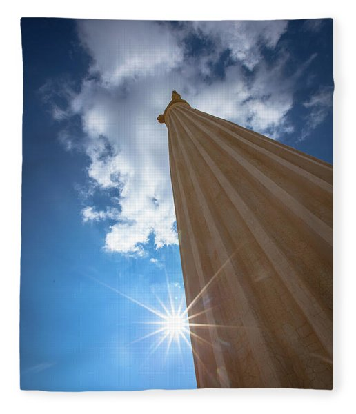 Column To Sky Fleece Blanket