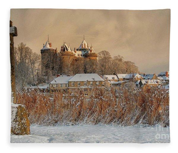 Combourg Castle 2 Fleece Blanket