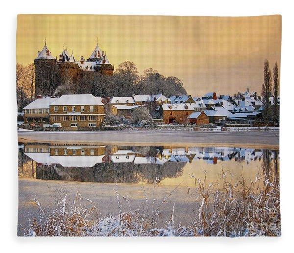 Combourg Castle  Fleece Blanket