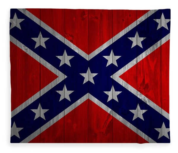 Confederate Flag Barn Door Fleece Blanket