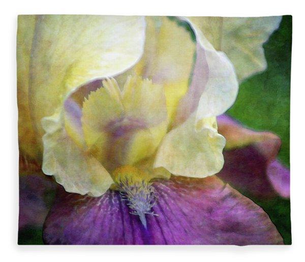 Cool Toned Purple Iris 0319 Idp_3 Fleece Blanket