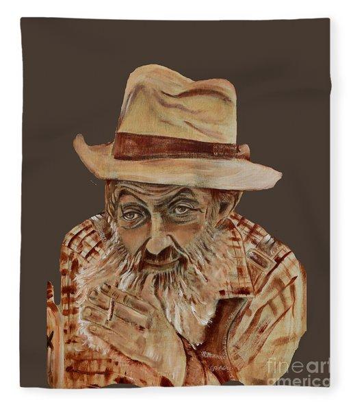 Coppershine Popcorn Bust - T-shirt Transparency Fleece Blanket