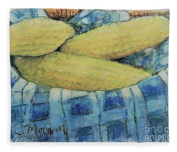 Corn In A Basket Fleece Blanket