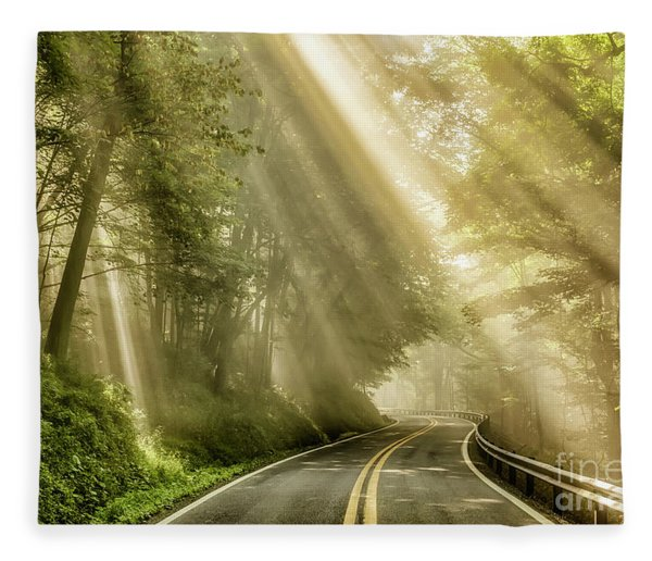 Country Road Rays Of Light Fleece Blanket