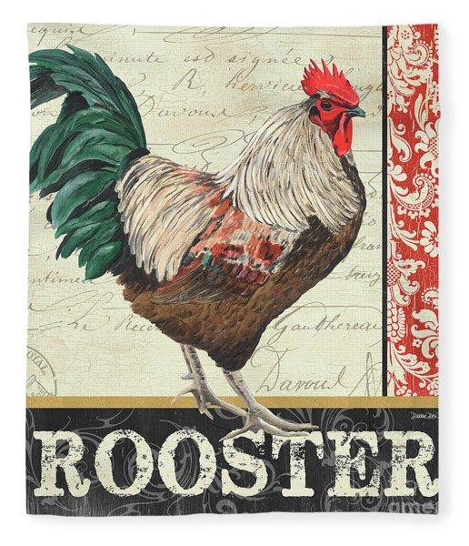 Country Rooster 1 Fleece Blanket