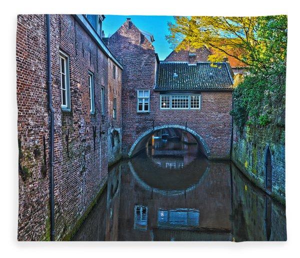 Covered Canal In Den Bosch Fleece Blanket