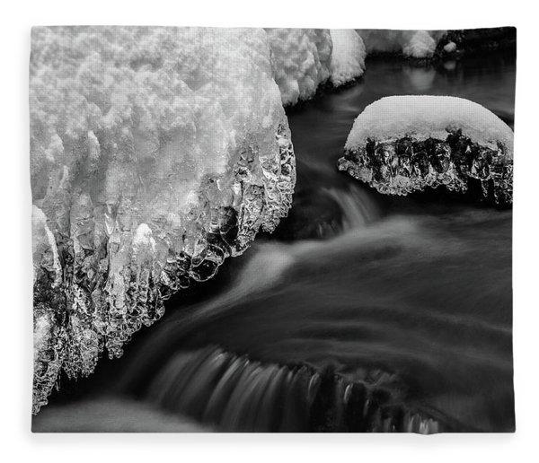 Creek Under The Ice Fleece Blanket