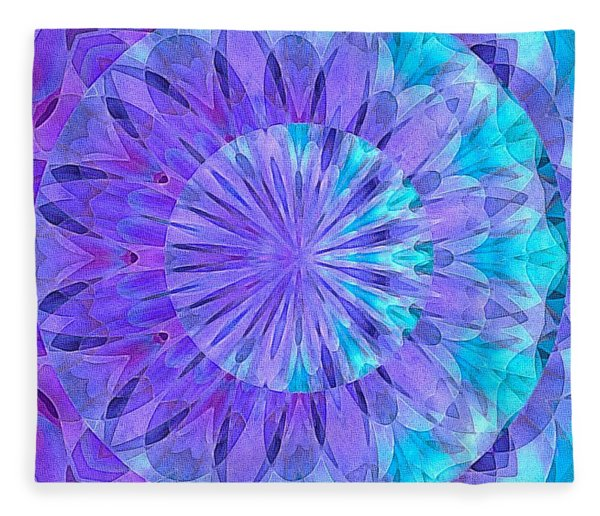 Fleece Blanket featuring the digital art Crystal Aurora Borealis by Susan Maxwell Schmidt