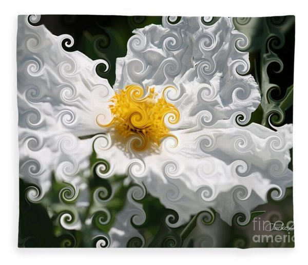 Curlicue Fantasy Bloom Fleece Blanket