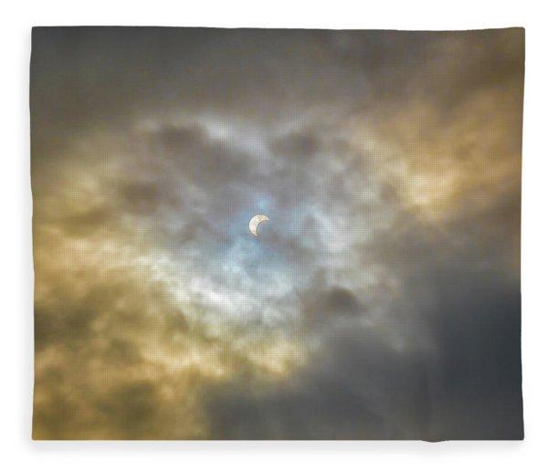 Curtain Of Clouds Eclipse Fleece Blanket
