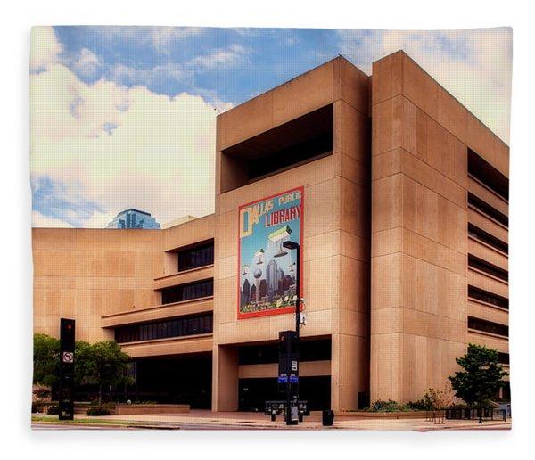 Dallas Central Library Fleece Blanket