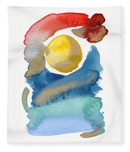Fleece Blanket featuring the painting Dancing by Bee-Bee Deigner