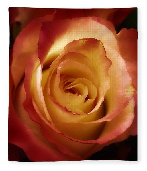 Dark Rose Fleece Blanket