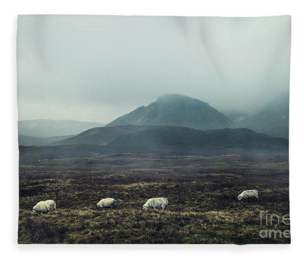 Dark Winter Fleece Blanket