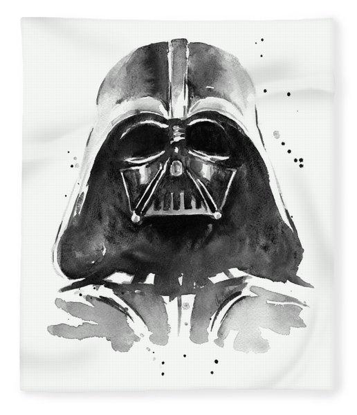 Darth Vader Watercolor Fleece Blanket