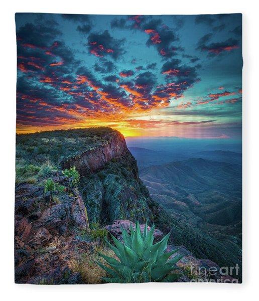 Dawn In The Chisos Fleece Blanket