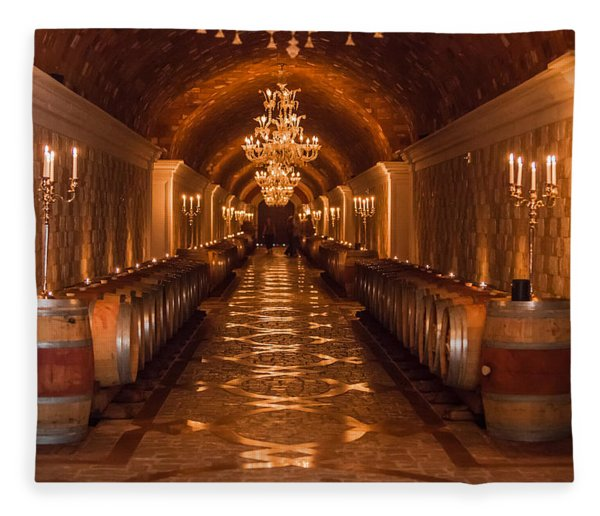 Del Dotto Wine Cellar Fleece Blanket