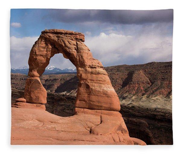 Delicate Arch Fleece Blanket