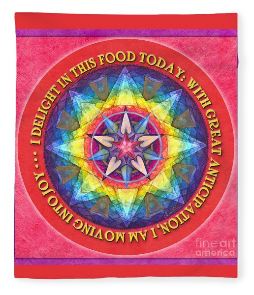 Delight In This Mandala Prayer Fleece Blanket