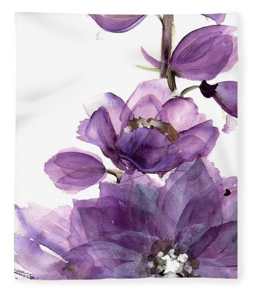 Delphinium Fleece Blanket