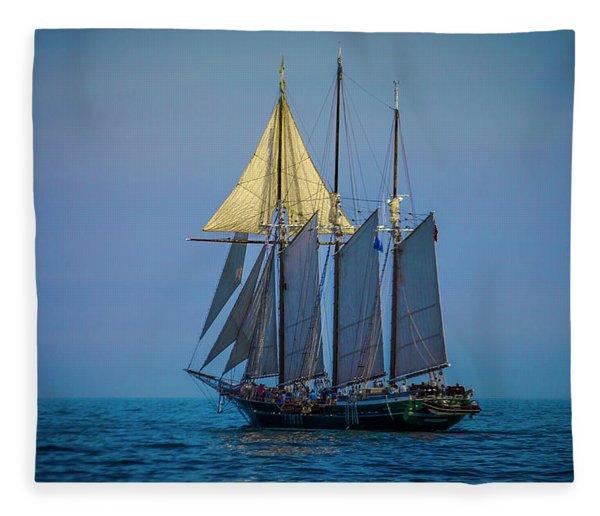 Denis Sullivan - Three Masted Schooner Fleece Blanket