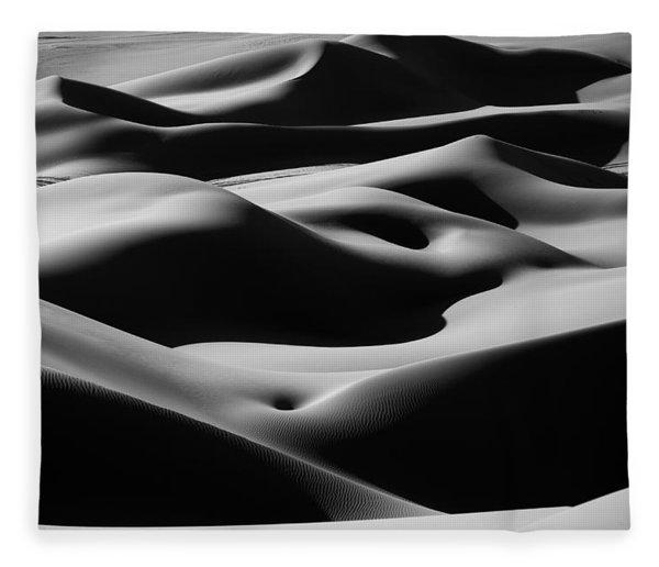 Desert Curves Fleece Blanket