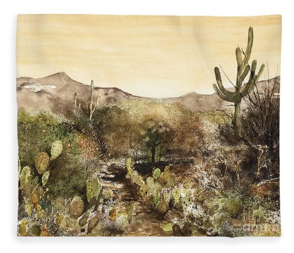 Desert Walk Fleece Blanket