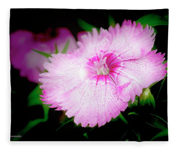 Dianthus Flower Fleece Blanket