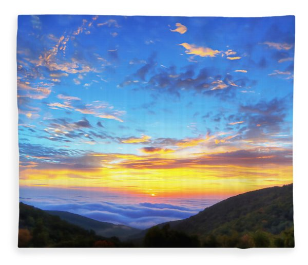 Digital Liquid - Good Morning Virginia Fleece Blanket