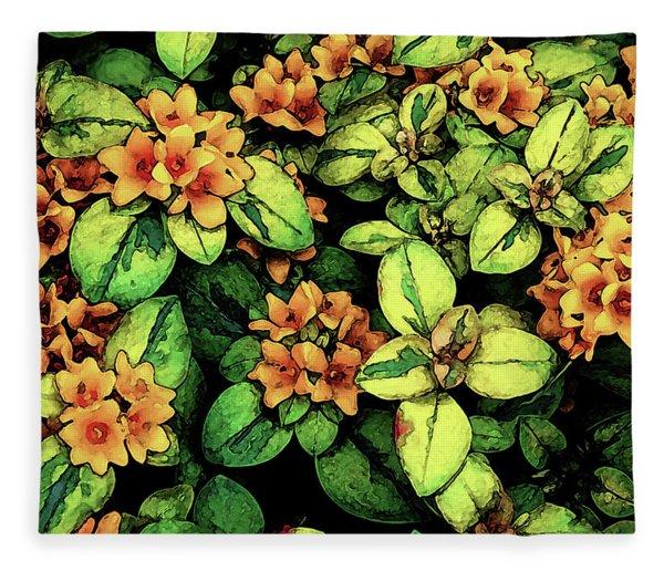 Digital Painting Quilted Garden Flowers 2563 Dp_2 Fleece Blanket