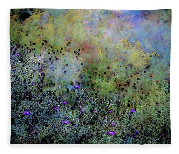 Digital Watercolor Field Of Wildflowers 4064 W_2 Fleece Blanket