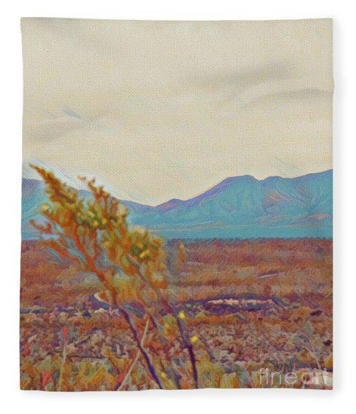 Distant Mountain Fleece Blanket